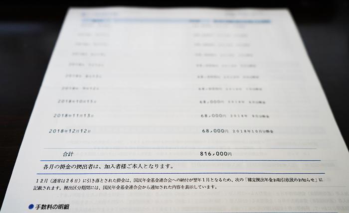 iDeco - 拠出額
