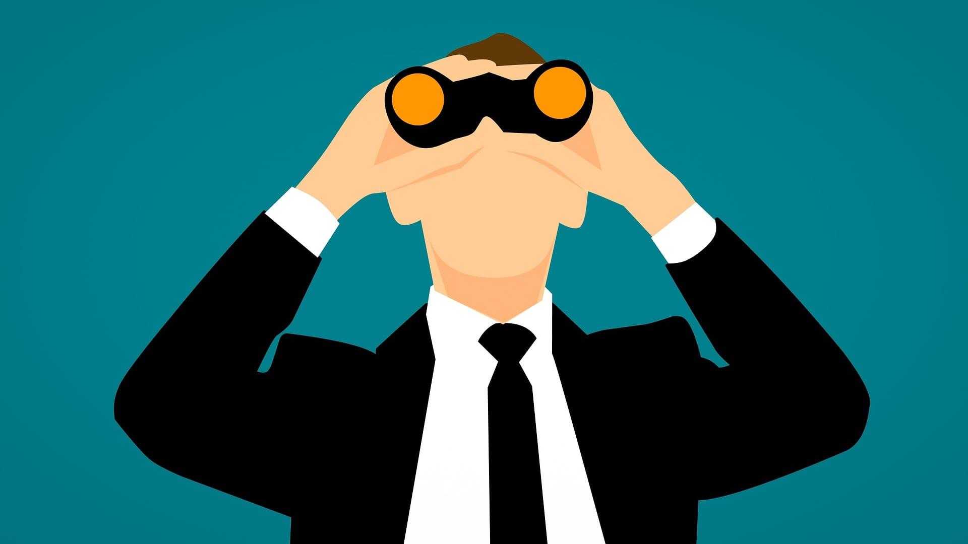 双眼鏡の画像